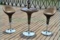 Outdoor brown rattan adjustable bar sets furniture