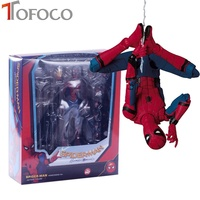 TOFOCO PVC Spiderman Action Figure Toy Hero Spider Man Figurine Model Anime Movie Figure Collection Toy For Boys In Box