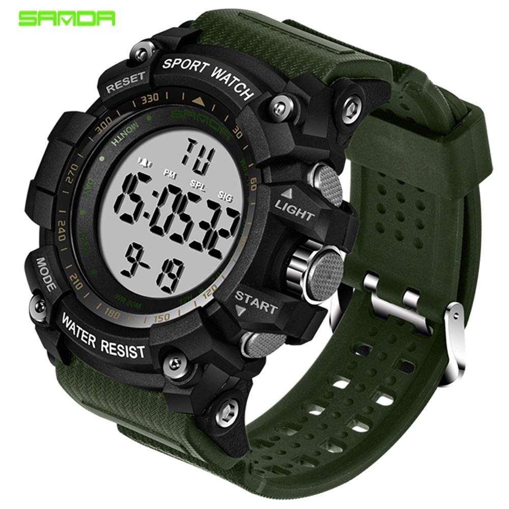 Men's Sport Watch Waterproof Men Watch Countdown Dual Time Clock Alarm Clock Chrono Digital Watch Relogio Masculino