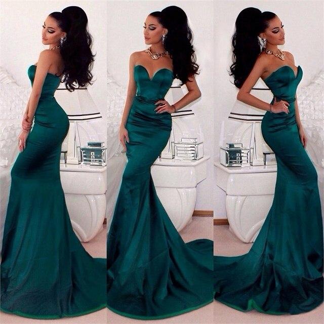 Vestidos gala verde esmeralda
