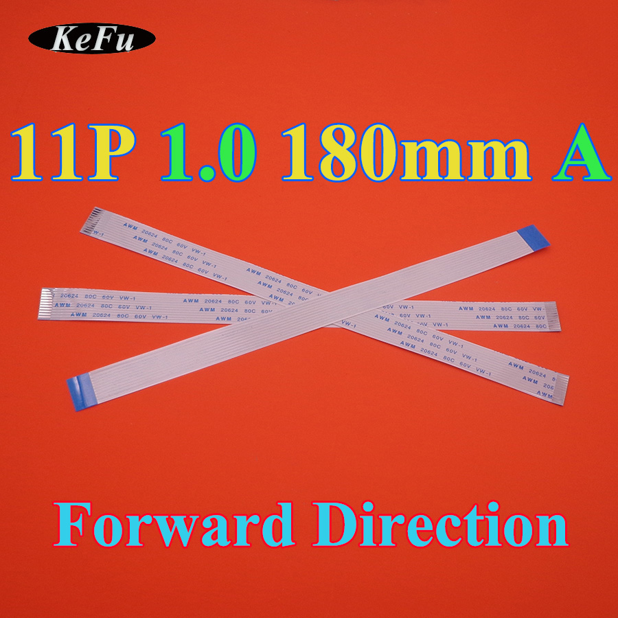 Gimax 10PCS FPC Ribbon Flexible Flat Cable Pitch 0.5MM 200MM Isotropy Same Sides A-Type 4P 6P 8P 10P 12P 16P 20P 30P 40Pin FFC Wire Color: 14P