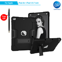 DWAYBOX For Apple IPad Air Case 3 In 1 Absorption Hybrid Combo Shockproof Protective Case For