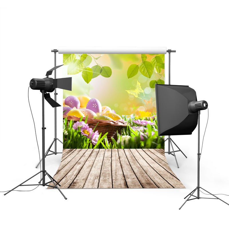2017 new spring easter photography backdrops eggs chiken new born baby children photographic background Easter Day P0366