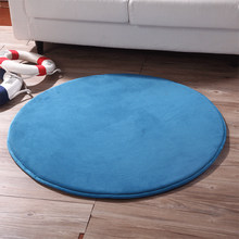 Round Thick Play Mats Coral Fleece Blanket Carpet Children Baby Crawling Tatami Mats Cushion Mattress for Bedroom Baby Game Gift(China)