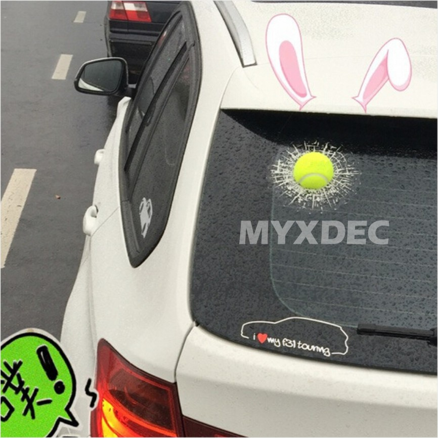 Image 2 - 2018 Funny Car Stickers and Decals 3D Football Baseball Sticker Self Adhesive PVC EVA Auto Truck Window Film Wrap Car Styling-in Car Stickers from Automobiles & Motorcycles