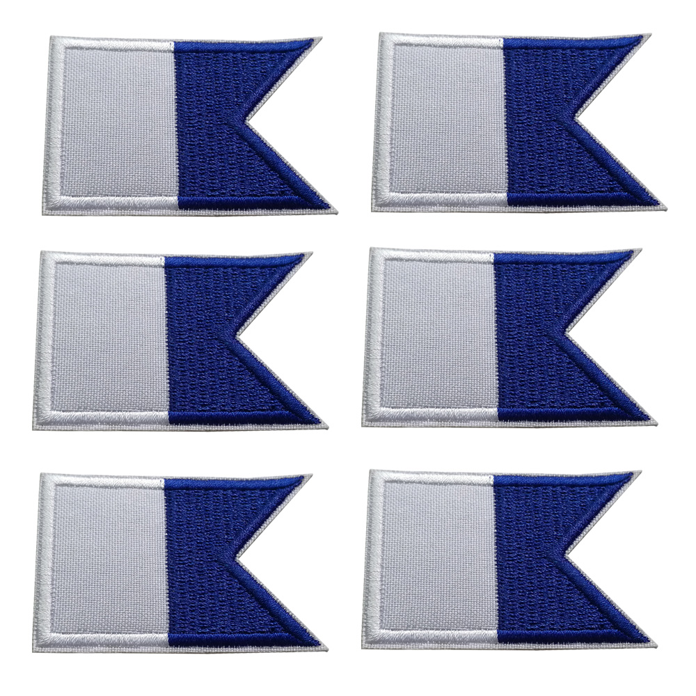 2/6/12PCS Scuba Diving Flag Embroidered Patch Iron On Patches Backpack Bag Flag Patch 6*4CM
