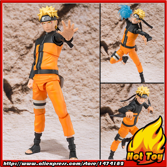 Original BANDAI Tamashii Nations S.H.Figuarts (SHF) Exclusive Action Figure - Naruto Uzumaki Sennin Mode from