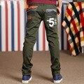 Мальчик новые брюки весна осень моды cuhk ребенок джокер досуг брюки мальчиков-подростков, зеленый полная длина брюки