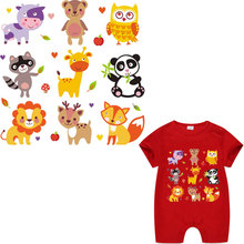 new style cartoon animals lion giraffe iron patches for kids baby infant clothing ironing stickers heat transfer patch vetement
