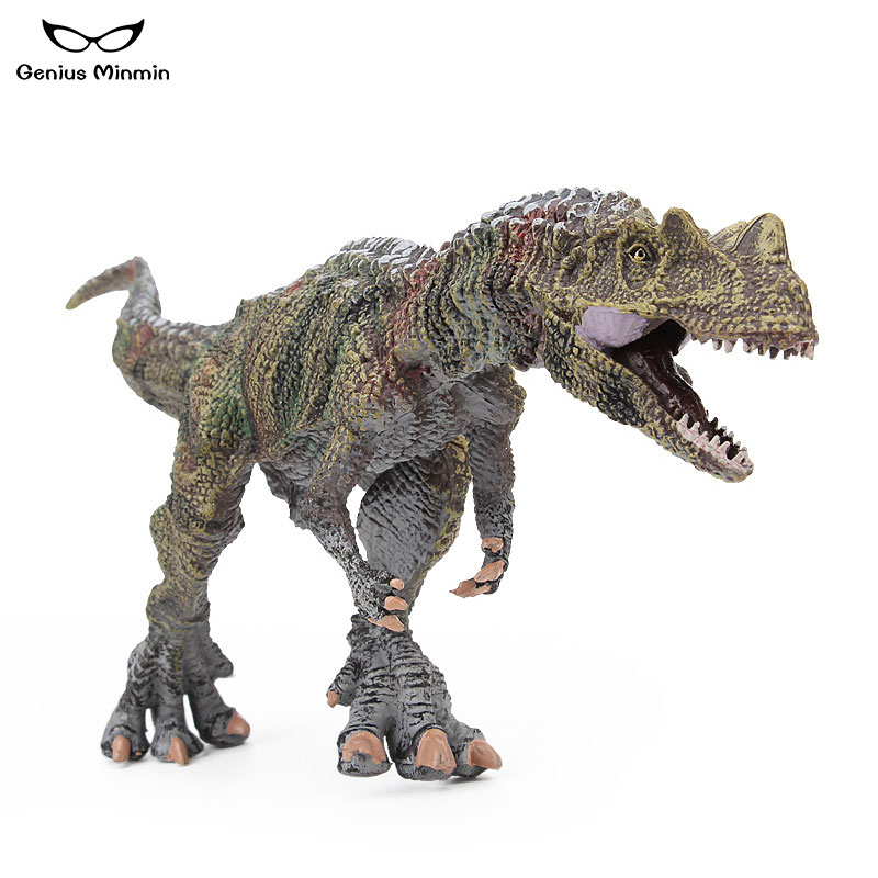 2019 Hot New 29x6x10cm Horned Dragon Dinosaur Jurassic World PVC Animal Model Boys and Girls Children Educational Toy in Action Toy Figures from Toys Hobbies