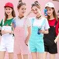 Candy Colors Denim Shorts Plus Size Women Rompers Womens Elegant Denim Jumpsuit Summer 2016 Fashion Denim Overalls For Women