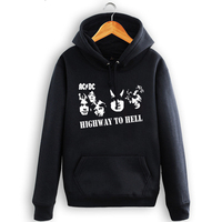 Free Shipping ACDC AC DC Rock Band Hoodie Print Letters Sweatshirts S 3XL