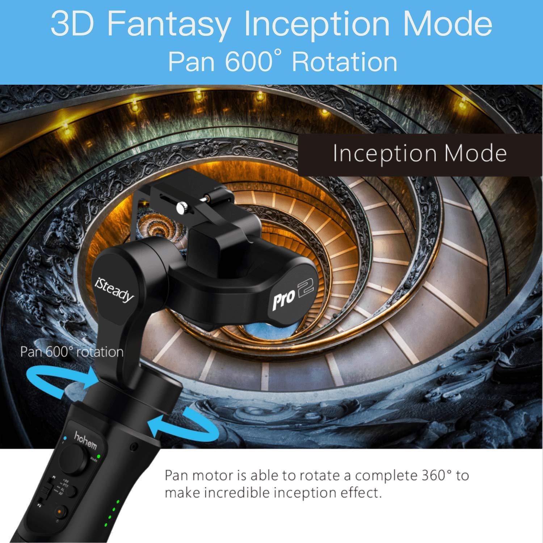 Stabilisateur de cardan à 3 axes Hohem iSteady Pro 2 résistant aux éclaboussures pour caméras d'action DJI Osmo Action Gopro Hero 7/6/5 SJCAM YI - 2