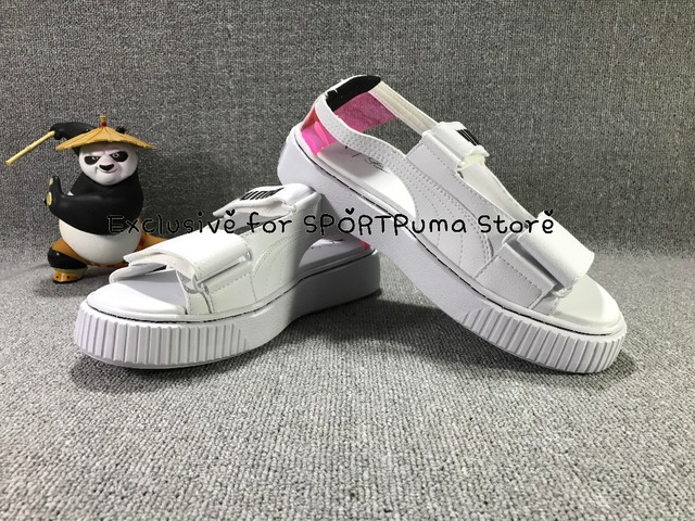 check out 12974 94973 US $51.51 8% OFF|PUMA X FENTY RIHANNA 2018 new sandals casual slip  breathable lightweight platform shoes badminton shoes size 36 39-in  Badminton Shoes ...
