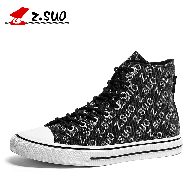 Z SUO men s canvas shoes letter printed casual shoes men s footwear spring summer canvas