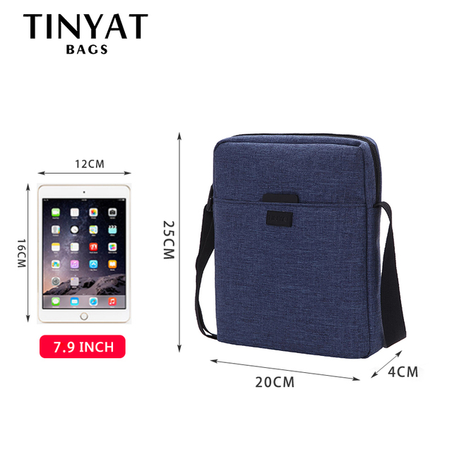Men Handbag Bag New Male Men's Shoulder Bag For Ipad Canvas Crossbody Bag Light Waterproof Messenger Bag Casual Blue 4