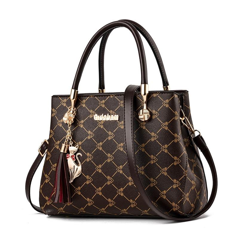 2019 Luxury Handbags Women Bags Designer Brand Women Leather Bag Handbag Sac A Main Shoulder Bag for Women Ladies Hand Bags(China)
