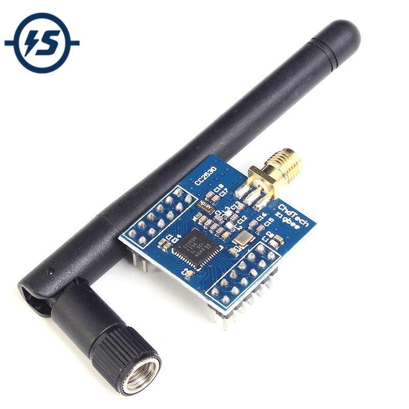 Cc2530 módulo de zigbee uart placa núcleo sem fio placa desenvolvimento cc2530f256 porta serial módulo sem fio 2.4 ghz zigbee