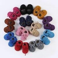 Nova Bbay Botas De Couro Reais Quentes Mocassins Bebê Espessamento Bebê das meninas dos meninos Botas De Pele-Nascido antiderrapantes