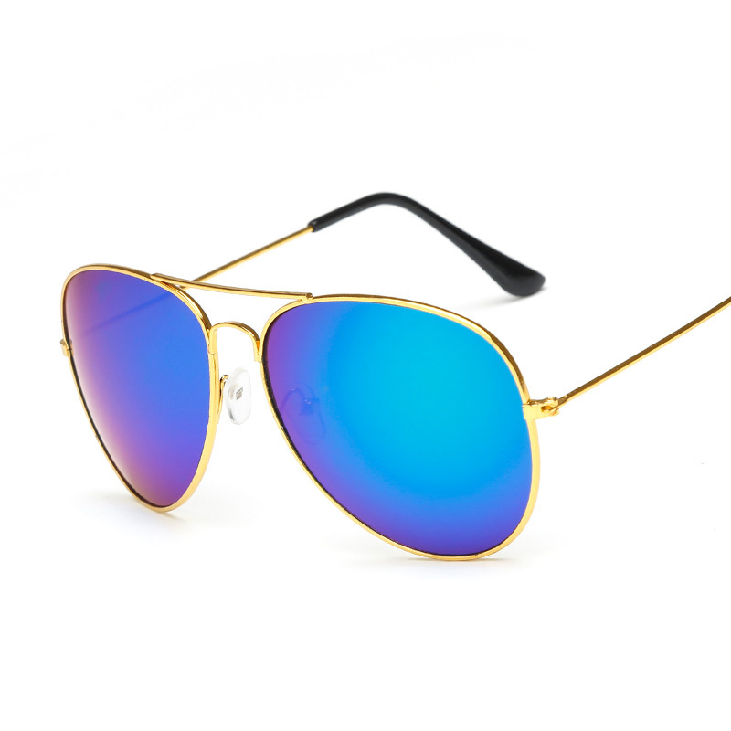 Fashion Classic Solglasögon 2017 Kvinnor Kör Mirror NY Pilot Sun Glasses Kvinnor Män Brand Designer unisex UV400