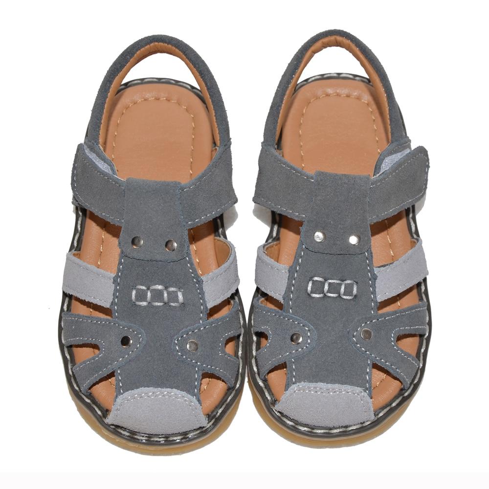 Anak laki-laki sandal suede 2017 musim panas abu-abu boy sepatu chaussure zapato menino 2-5 tahun PU lapisan untuk Muslim lembut ...