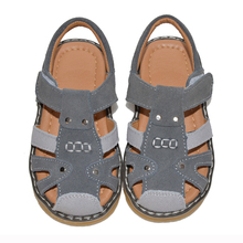 Buy Boys sandals suede 2017 summer grey boy footwear chaussure zapato menino 2-5 years PU lining for Muslims soft baby boy shoes directly from merchant!