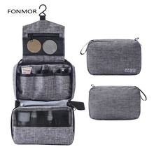Hanging Travel Toiletry Bag for Men and Women Makeup Cosmetic Bathroom Shower Organizer