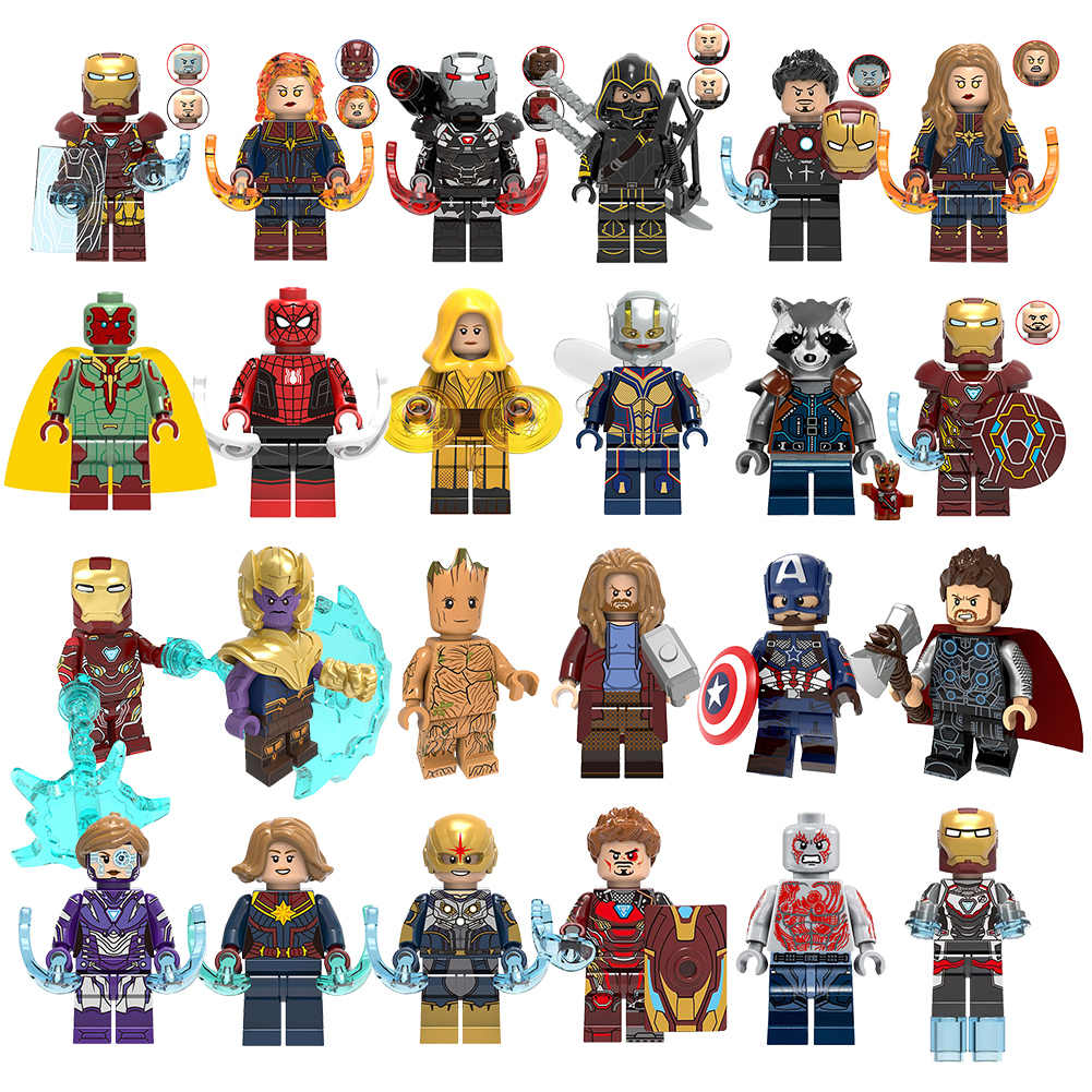 Marvel Super Heroes  Infinity War Spider-Man Batman Captain America Thanos Spider iron man THOR Building Blocks Toys toy