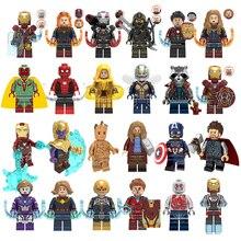 Marvel Super Heroes  Infinity War Spider-Man Batman Captain America Thanos Spider iron man THOR Building Blocks Toys toy