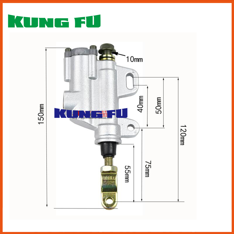 Zongshen Loncin Lifan Shineray Jialing Cqr 250CC DIRT PIT BIKE Rear Brake Pump Motorcycle Accessories Part