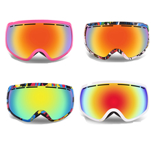 Free shipping Professional Unisex Adult Snowboard Ski Goggles Anti Fog UV Double Lens Glass Skiing Eyewear snowboard goggles