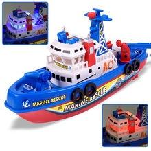 1 unids alta velocidad de alta potencia luz de la música eléctrica Marina  bomberos luchando Barco de juguete regalo para los niñ. 63edfbbd60c