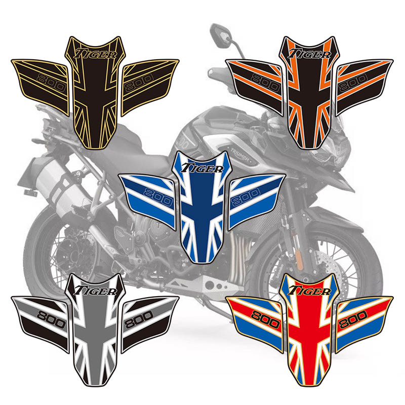 psler Motorcycle Fuel Tank Pad Protector Sticker Decals For Tiger 800