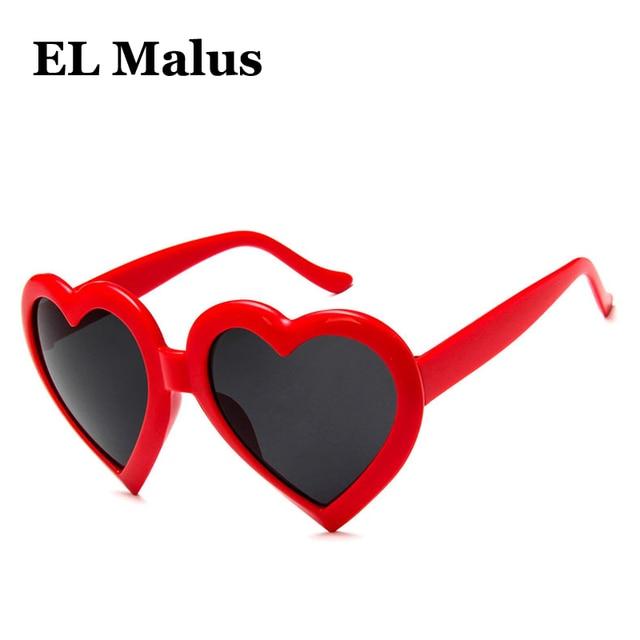 6e312edf77ddb  EL Malus  UV400 Bonito Coração Retro Quadro Óculos De Sol Das Mulheres Da  Marca