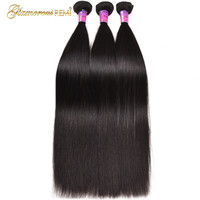 1/3/4 Bundle Deals Peruvian Straight Hair Extension Human remy Hair Weave Natural black Color 8 26 inches Free Shipping sale