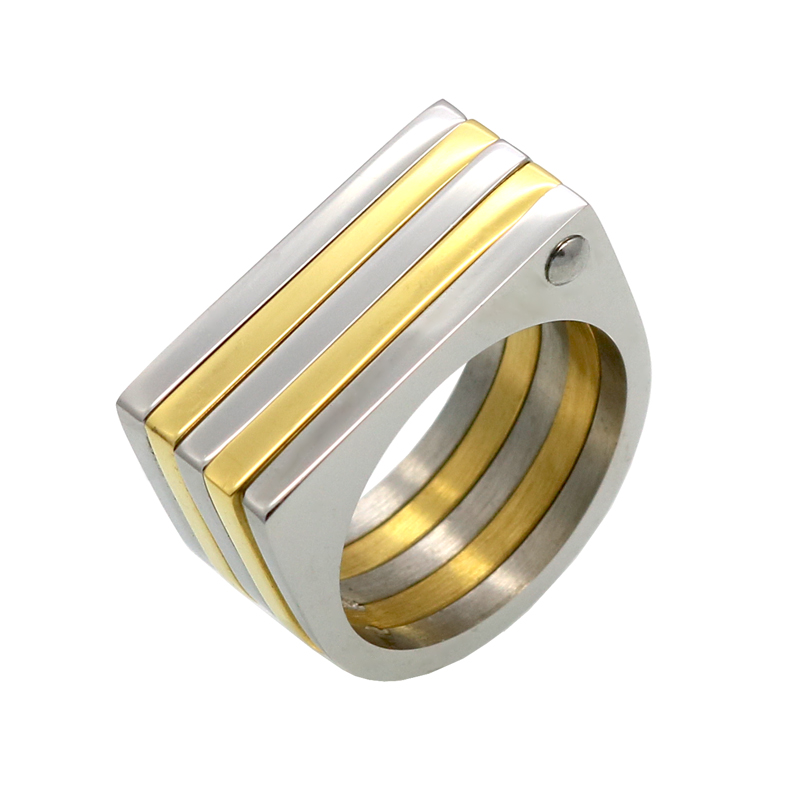 men womens wedding rings gold silver colors stainless steel 5 rows band rings for women men jewelry fashion spike rings - Wedding Ring For Men