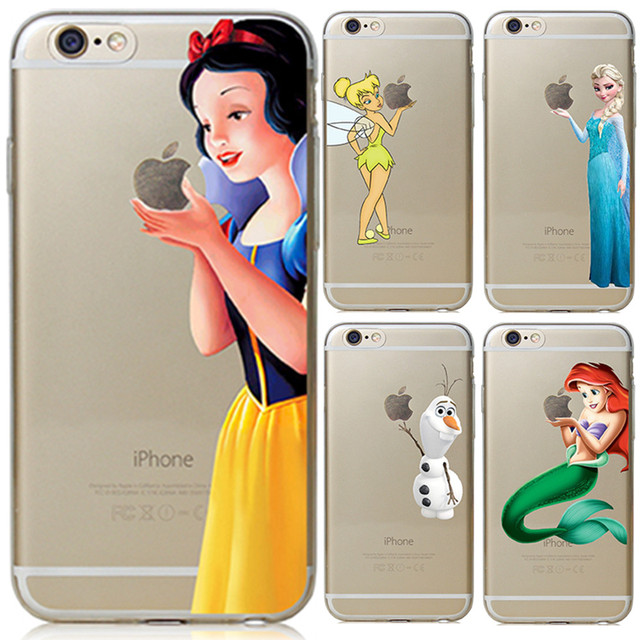 quality design 0e9d5 649e7 US $1.86 |For Apple iPhone 6 6S Case Snow White Tinker bell Mermaid Hard  Back Cover For iPhone 6s Case 2016 New arrival For iphoen 6s Case-in Fitted  ...