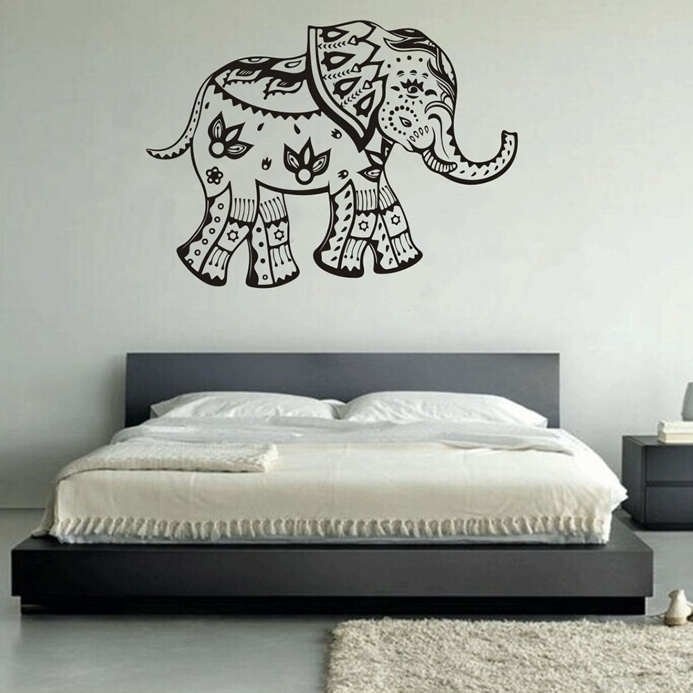 Poster Chambre Adulte Nordic Style 3d Cartoon Animal Elephant Mandala Pattern
