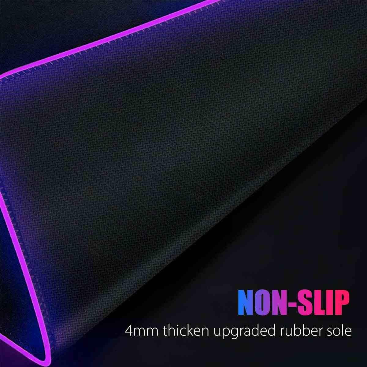 RGB Gaming tapis de souris Gamer ordinateur LED éclairage USB grande carte du monde tapis de souris coloré antidérapant tapis de bureau tapis de souris