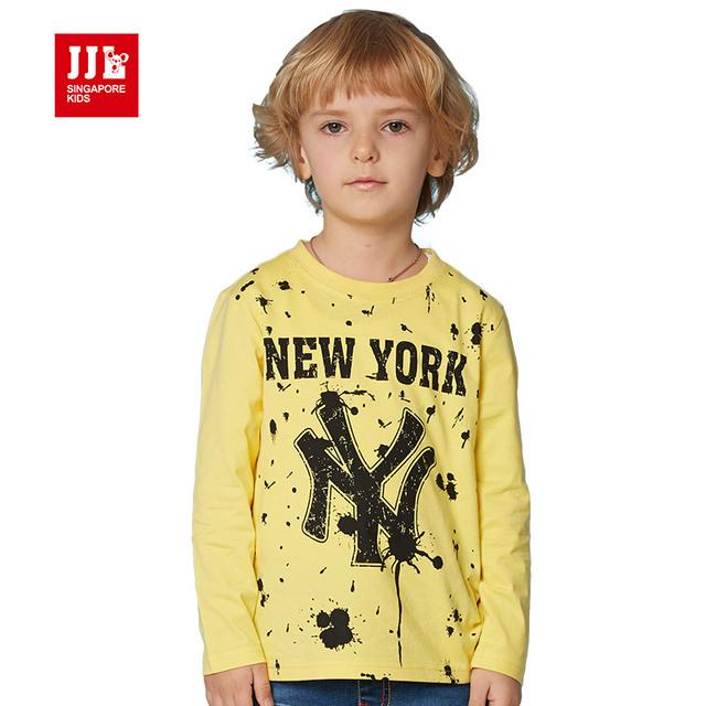 Camisa dos miúdos t carta impressão o-pescoço crianças t-shirt 2016 novo chegada meninos camisetas crianças tops meninos encabeça boa qualidade tamanho 4-11 t