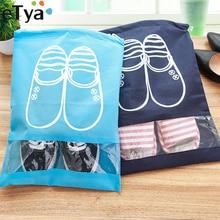 eTya Fashion Women Hot 1pcs High Quality Shoe Bag 2 size Travel Pouch Storage Portable Practical Drawstring Bag Organizer Cover(China)