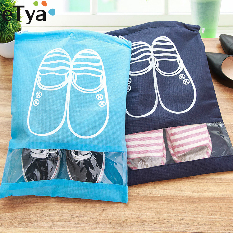 eTya Fashion Women Hot 1pcs High Quality Shoe Bag 2 size Travel Pouch Storage Portable Practical Drawstring Bag Organizer Cover