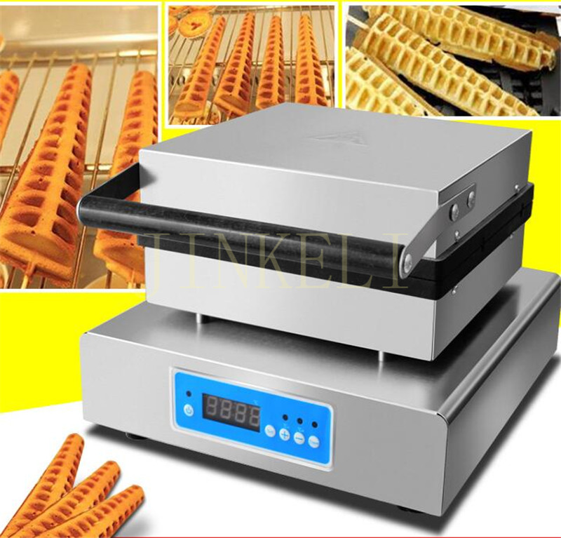 free air ship 220V Electric Lolly Waffle Maker Machine; pine shape waffle machine with drip tray waffle making machine