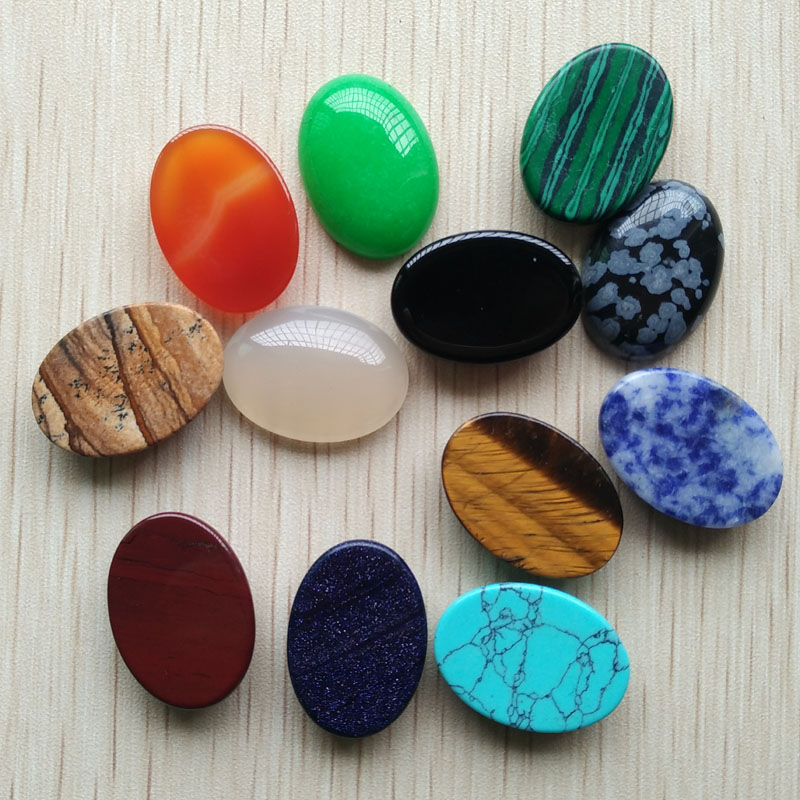 Wholesale Multiple Choice Mixed Gemstone Oval Cab Cabochon 40x30x7mm AE5426