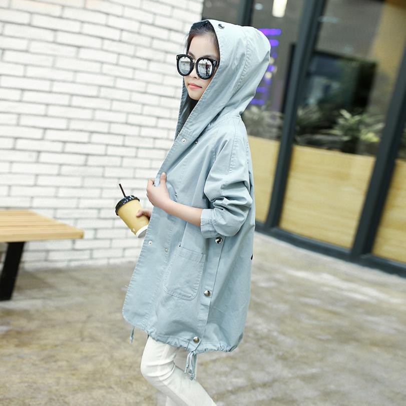 Girls Hooded Windbreaker Jacket 2019 Autumn New Children print cotton   Trench   Coat Outerwear modis Kids Clothing Jacket Y1611