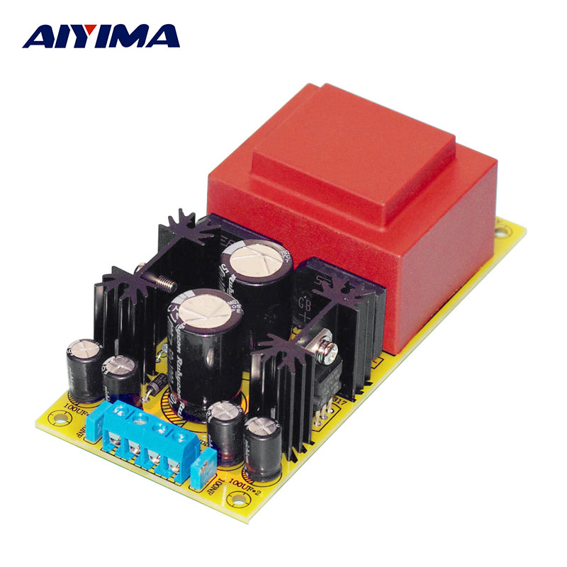 AIYIMA LM317 Adjustable Power Supply Board AC To AC DC Dual Power Regulator Board DIY For Speaker Pre-amplifier Home Theater