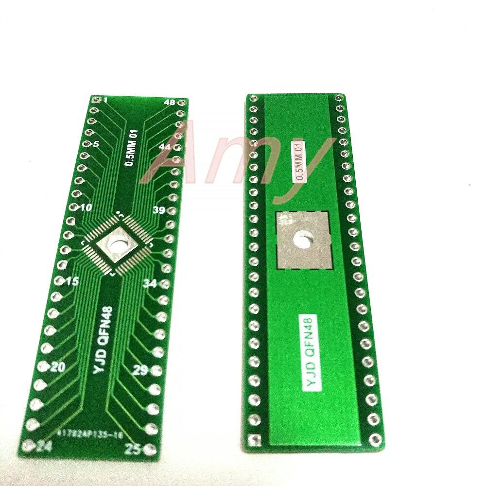 10pcs/lot QFN adapter plate 48p turn DIP 0.5mm