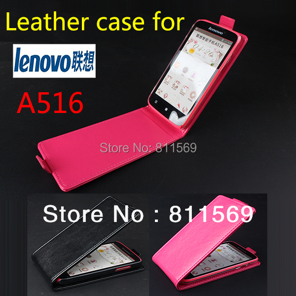 Free shipping Lenovo A516 Case, New High Quality PU Filp Leather Cover Case for Lenovo A516 Case