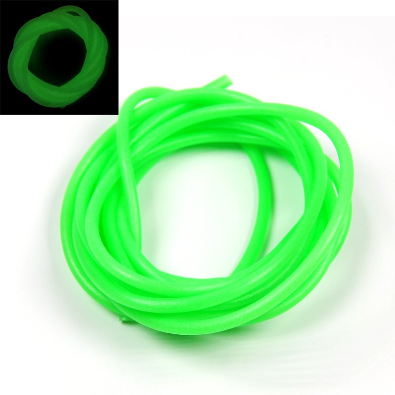 2m/bag 3mm Soft Silicone Lumo Tube Green Glowing Fishing Rubber Tubing rompin 20pcs fly tying riging tube pvc lumo tubblings fishing material luminous tube for sea fishing tackle diy 2mm 3mm 12cm