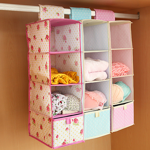 Drawer type wardrobe hanging clothing storage box multilayer hanging storage bag closet orgainzer : hanging clothing storage - Aquiesqueretaro.Com